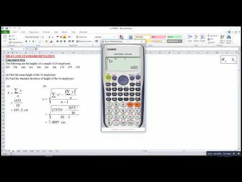 Mean and Standard Deviation (Casio fx-570ES)
