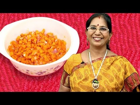 Microwave Oven Cooking: Carrot Dry Curry   Mallika Badrinath Recipes   Poriyal Recipe