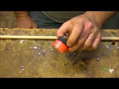 Paint Staining Wood Shafts