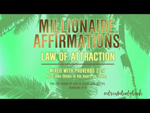 MILLIONAIRE AFFIRMATIONS - POWERFUL** Money Law of Attraction, Confessions