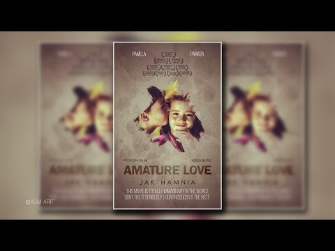 Photoshop cc Tutorial: How to make romantic movie poster