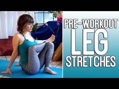 Pre Workout Flexibility Stretches for Runners & Athletes - Leg Exercise Routine