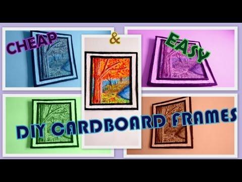 Cardboard frame DIY: make painting frames at home  ( Redefine craft) 2015