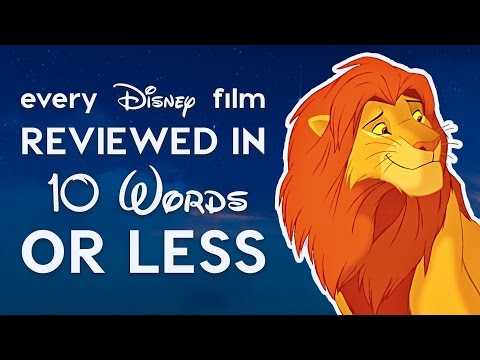 Every Disney Film Reviewed in 10 Words or Less!