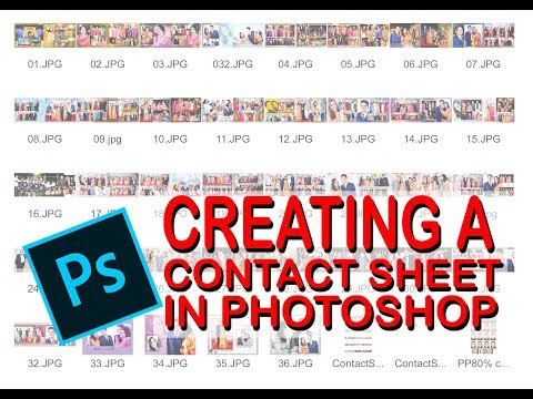 How to make a contact sheet in Adobe Photoshop 7.0