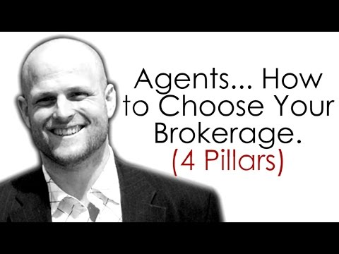 How to Choose A  Real Estate Brokerage (4 Pillars)