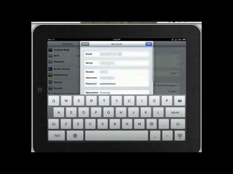 Update Email Password on iPad