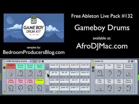 Gameboy Drums Free Ableton Live Pack