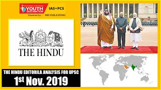 'The Hindu' Analysis for 1st Nov, 2019 (Current Affairs for UPSC/IAS)