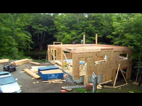 Installing Floor Rims and Tongue and Groove OSB subfloor - 31 - My Garage Build HD Time Lapse