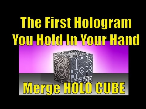 Merge HOLOCUBE, The First Hologram You Hold In Your Hand, Augmented Reality Fun!