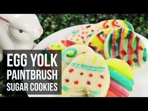 Egg Yolk Paintbrush Sugar Cookies | Easy Kid-Friendly Easter Cookie Recipe by Forkly
