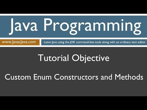 Learn Java Programming - Enum Constructors and Methods Tutorial
