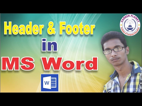 Header and Footer in MS Word in hindi|MS Word Tutorial in Hindi