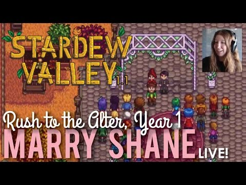 Marrying Shane in Stardew Valley - LIVE!