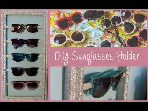 DIY Sunglasses Storage Organizer (Summer Room Decor)