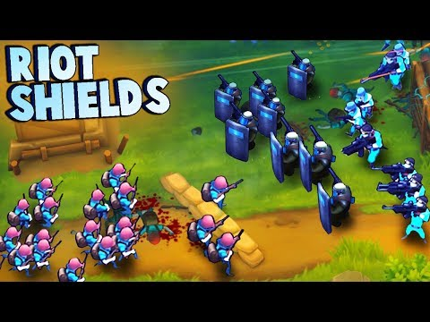 Swat Soldiers RIOT SHIELD WALL!  (Guns Up Multiplayer Gameplay)