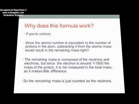 How to find the number of Neutrons in an atom