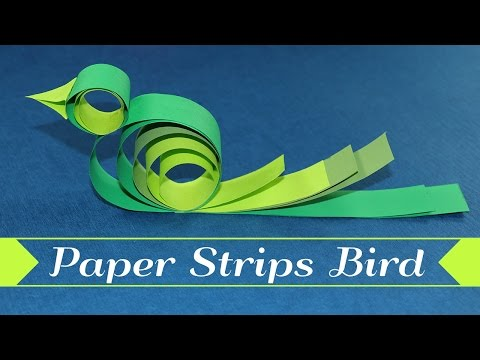 Paper Bird Kids Crafts - How To Make A Bird With Paper Strips