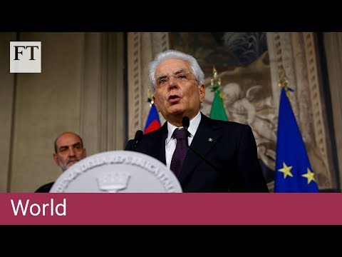 Italian president rejects nomination of Eurosceptic minister