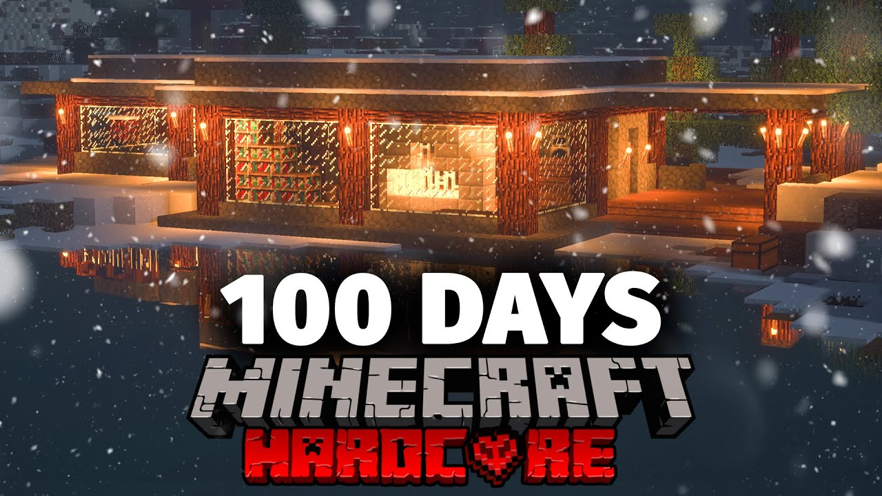 I Spent 100 Days in the Arctic in Minecraft and Here's What Happened