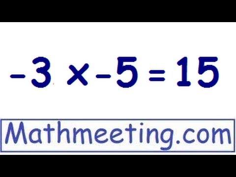 Multiplying negative numbers