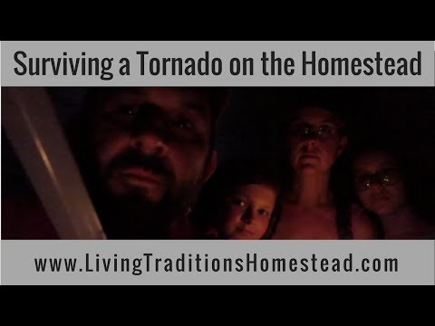 How To Survive a Tornado on the Homestead:  Storm Shelter / Root Cellar Installation and Overview