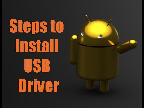 Install driver for Android tablet