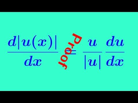 Derivative of absolute value functions - -  derivative of a function  -  part 4