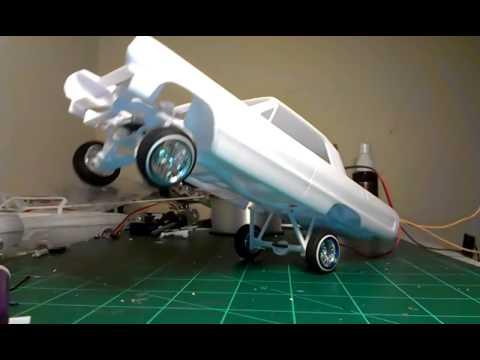 64 impala lowrider model car test hop