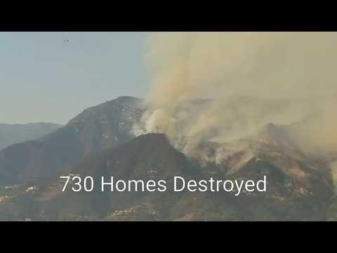 Thomas Fire Montecito Santa Barbara and Ventura County 2017