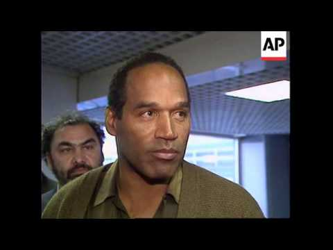 UK: HEATHROW: OJ SIMPSON RETURNS HOME TO US