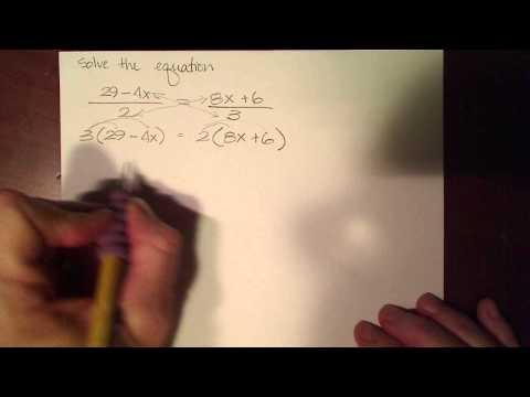 Solving detailed linear equations