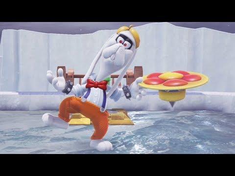 Super Mario Odyssey - Walkthrough Part 9 - Snow Kingdom All Moons & Coins