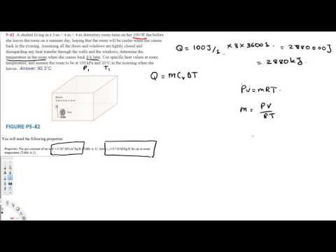 Determine the final Temperature of the room - Thermodynamics
