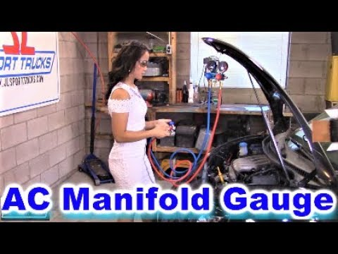 Beautiful Jade shows how to Connect the R-134a  AC Manifold Gauge Set Properly