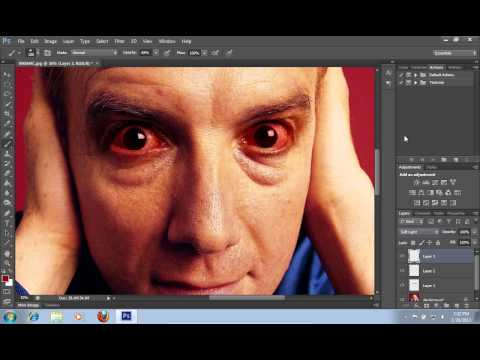 How to Make Scary Eyes in Photoshop CS6