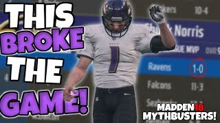 CAN A PLAYER WIN MVP BY ONLY PLAYING 1 GAME?? Madden 18 Mythbusters!