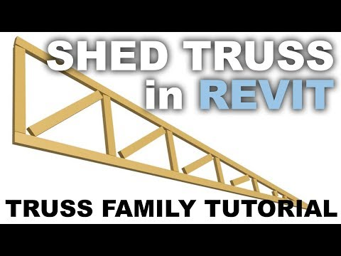 Truss for a Shed Roof in Revit * TRUSS FAMILY TUTORIAL *