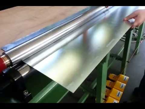 Rolling machine (calandra) for pipes , downspouts and gutters 2m / sheet metal bending