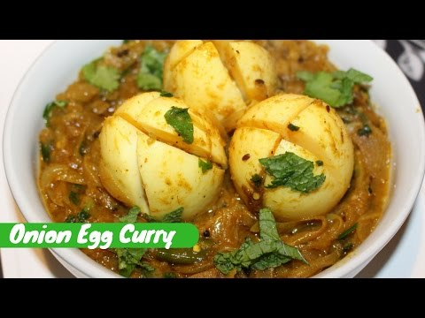 Quick And Easy Boiled Egg Curry Recipe-Onion Egg Curry By Harshis Kitchen-Simple Anda Curry Recipe