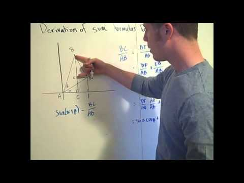 Trigonometric identities : sum formula for sin and cos