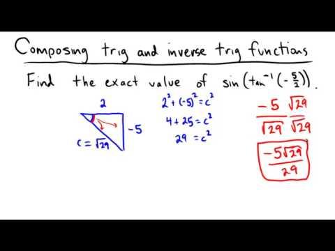 Applying a trigonometric function to an inverse trigonometric expression
