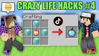 ΦΑΝΤΑΣΤΙΚΑ LIFE HACKS TikTok #4 Noobaki Minecraft Famous Games @Let's Play Kristina
