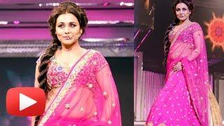 Rani Mukherjee Hot Cleavage And Navel Show In Pink Tranparent Saree