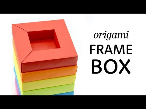 Origami Frame Box Tutorial - DIY Shadow Box - Paper Kawaii