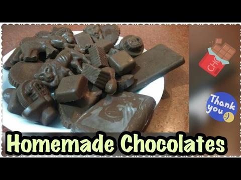 Homemade Chocolates  _ Easy Homemade Chocolates with Cocoa powder _ COOK with Monika