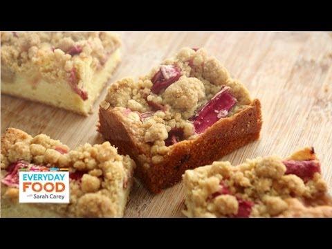 Rhubarb Crumb Bars - Everyday Food with Sarah Carey