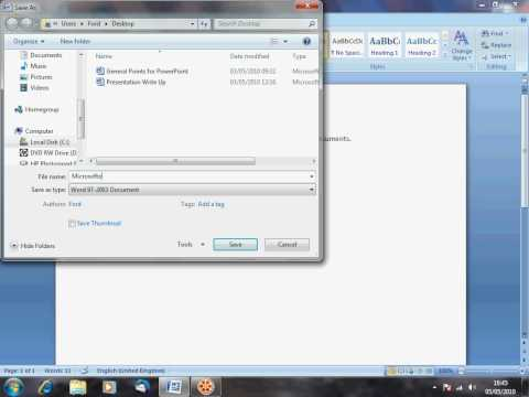 Microsoft Word 2007 - How to ensure maximum compatibility with older versions