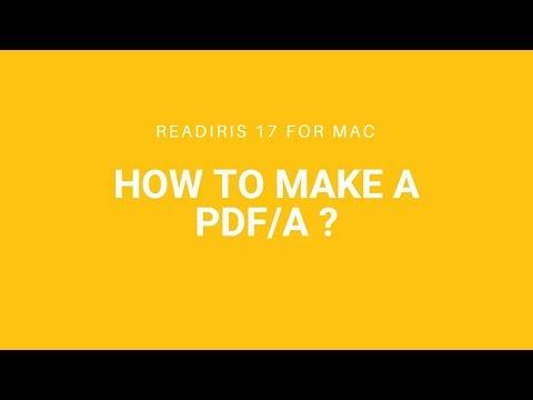 Readiris 17 Mac: PDF/A